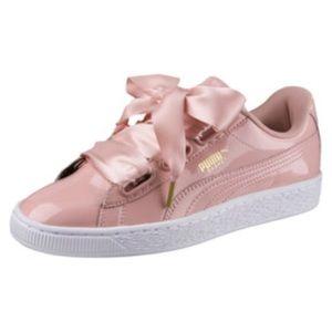 Shoes | Pink Puma Basket Bow Shoes